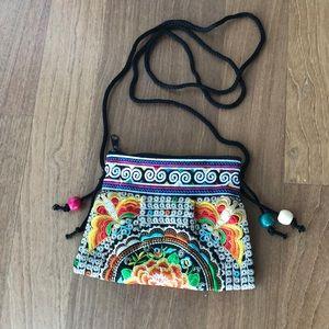 Beautiful Tibetan embroidery crossbody or purse